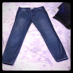 Faded Skinny Ankle Jeans